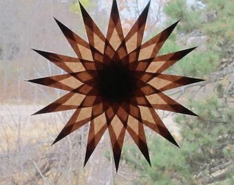 Brown 16 Point Window Star