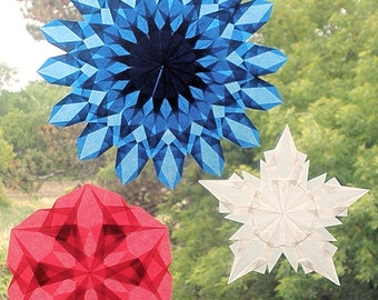 Waldorf Window Star Suncatchers for a Patriotic Holiday