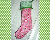 PRE-ORDER for Handmade Lilly Pulitzer Christmas Stocking Santa Lion