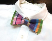 Mens Lilly Pulitzer Bow Tie Handmade in Whitworth Plaid