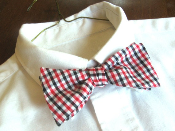 UGA Collegiate Bow Tie Mens Red and Black