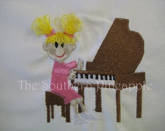CANVAS TOTE Piano Lesson  Personalized FREE