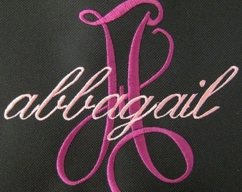 CANVAS TOTE Script Name and Initial