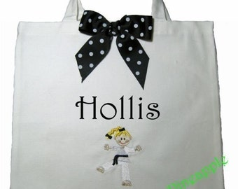 CANVAS TOTE Karate Girl 4 Personalized FREE