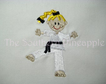 PILLOWCASE Karate Girl 4 Personalized FREE