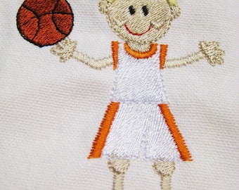 CANVAS TOTE Basketball Girl Personalized FREE