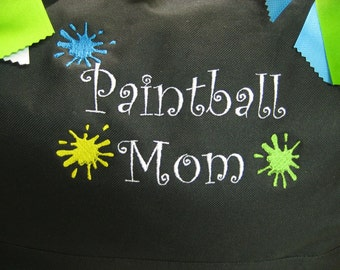 CANVAS TOTE Paintball Mom