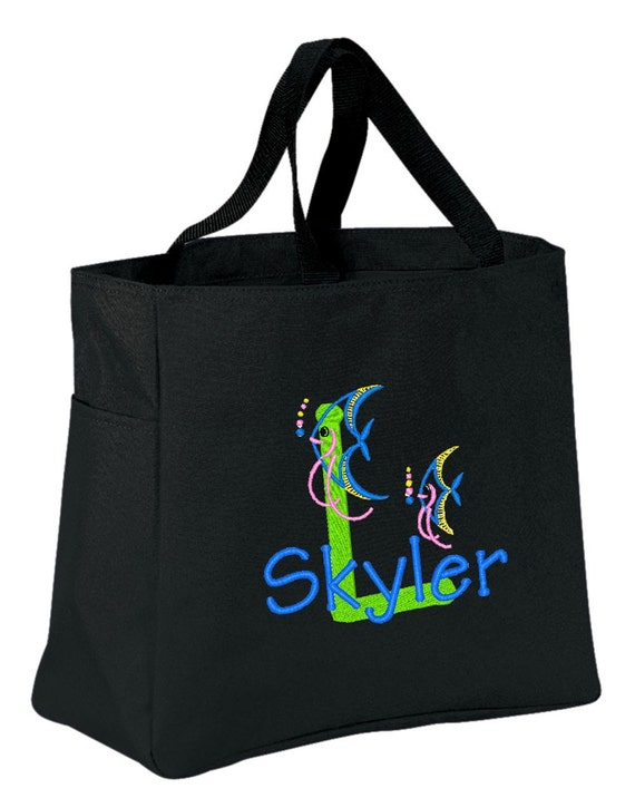 FUN TOTE Angel Fish  Personalized FREE