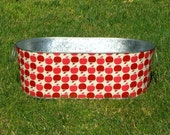 Bobbing for Apples Galvanized Tub Red Delicious Large Oblong