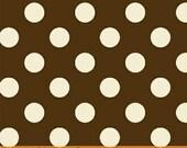 Chocolate Brown and White Polka Dot Fabric by Windham BASIC BRIGHTS 1 Yard