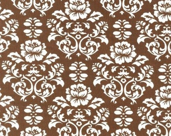 Mocha Damask Fabric by Robert Kaufman Pimatex Basics 1 Yard SALE