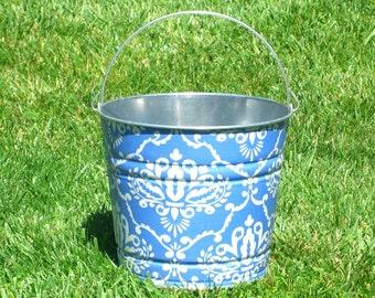 Blue Leanika Galvanized Beach Bucket