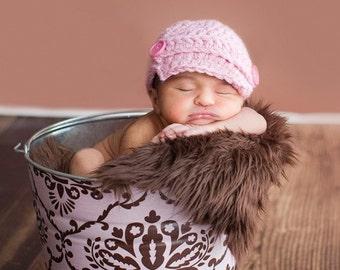 Photo Prop Newborn Baby Galvanized Tub Pink and Chocolate Leanika Damask
