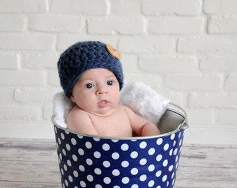 Newborn Baby Photo Prop Galvanized Bucket  Anchor Blue and White Polka Dot
