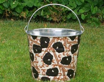 Fabric Covered Galvanized Bucket Homerun