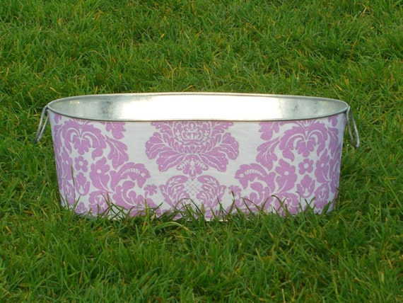 Baby Girl Photo Prop Galvanized Tub Large Oblong Plum Delovely