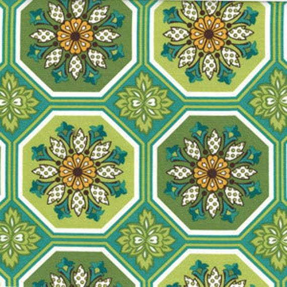 Ginger Tile Fabric by Sandi Henderson for Michael Miller Ginger Blossom Half Yard