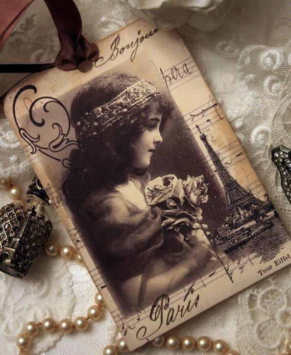Paris City of Dreams Hang Tag Set