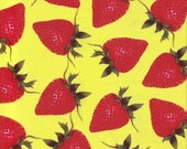Destash Fabric - Strawberry Print - 1 Yard