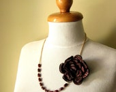 Evgenia Necklace - Wool Felted Flower