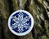 Art Deco Snowflake Ornament - Free shipping