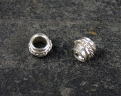 handmade sterling silver spinner spacer bead / charm - fits all european style bracelets