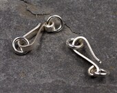 the big hook clasp - handmade heavyweight sterling silver clasps - two sets