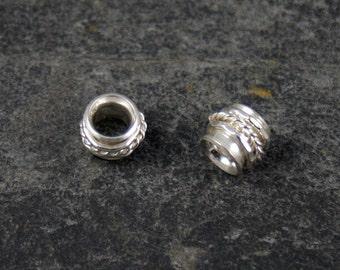 handmade sterling silver spinner spacer bead / charm - fits all european style bracelets