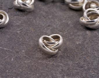 handmade sterling silver miniature russian wedding spacer bead / charm - fits european style bracelets