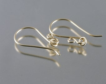 handmade 9ct gold earwires with jumprings - 1 pair