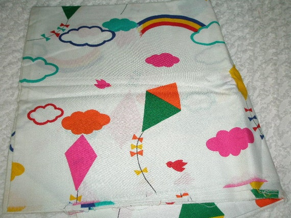 Vintage Kite and Rainbow Fabric