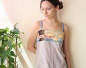bohemian patchwork apron top summer fashion