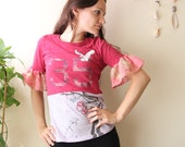 upcycled american eagle pink tshirt medium