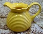 JUG, pitcher, creamer - vintage - Beautiful Yellow Ceramic retro