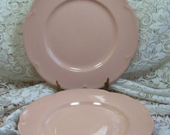 ROSEDAWN  3 plates - made by Johnson Brothers of England - vintage pink