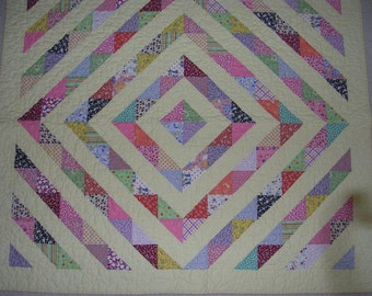 Reproduction 1930's Quilt---Free shipping--Sale