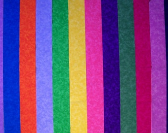 BRIGHT BLENDERS Quilt Jelly Roll Fabric Strips C/66C