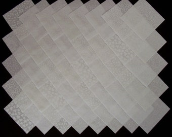 WHITE on WHITE 100% cotton Prewashed 4 inch Quilt Block Fabric Squares (#stk1B)