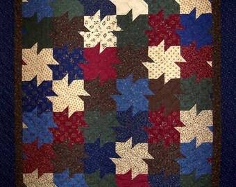 "Tessellating Whirligigs Wildflower Serenade Prints 52"" x 59"" Quilt"
