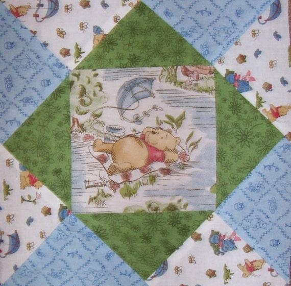 Winnie The Pooh Pre Cut Fabric Quilt Block Kit Stk138a
