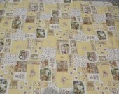 Brambly Hedge Fabric OOP Rare 98/99 Rose and Hubble Yellow Scenic Patchwork Check Mice Quilting Cotton Jill Barklem