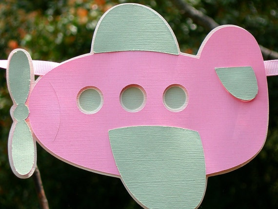Its A Girl Airplane Baby Banner READY TO SHIP