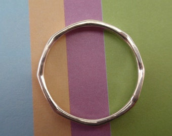 Eight sided silver band