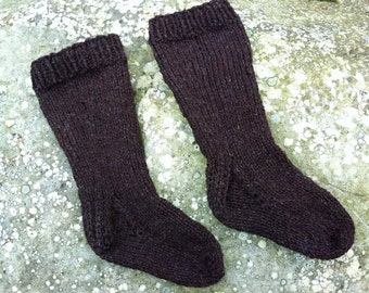 Toddler Socks Pattern Knit Knitted PDF Knee High DK