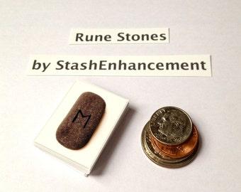 Rune Cards Miniature Stones Printable Set of Runes PDF