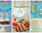 The Vintage Hot Air Balloon Collection - Custom Cupcake Toppers from Mary Had a Little Party