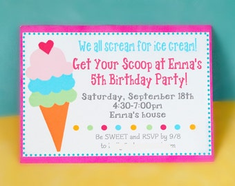 The ICE CREAM COLLECTION - Custom Invitations from Mary Had a Little Party