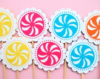The Candy Land Collection - Cupcake Toppers from Mary Had a Little Party