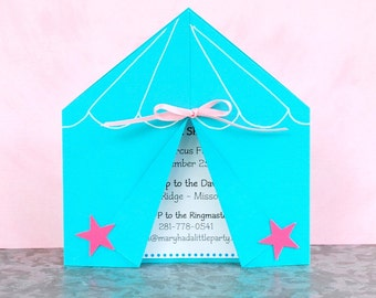 The CIRCUS/ CARNIVAL Collection - Custom Invitations from Mary Had a Little Party