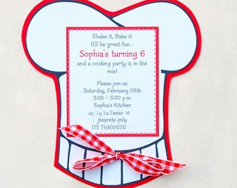 The Cooking Party - Custom Invitations from Mary Had a Little Party
